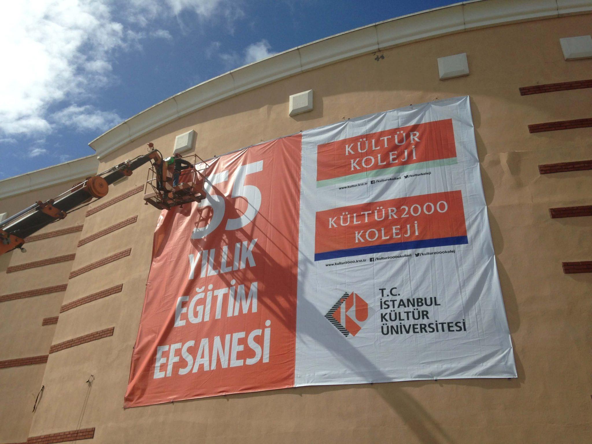 Kültür Üniversitesi Cephe Afiş Baskı
