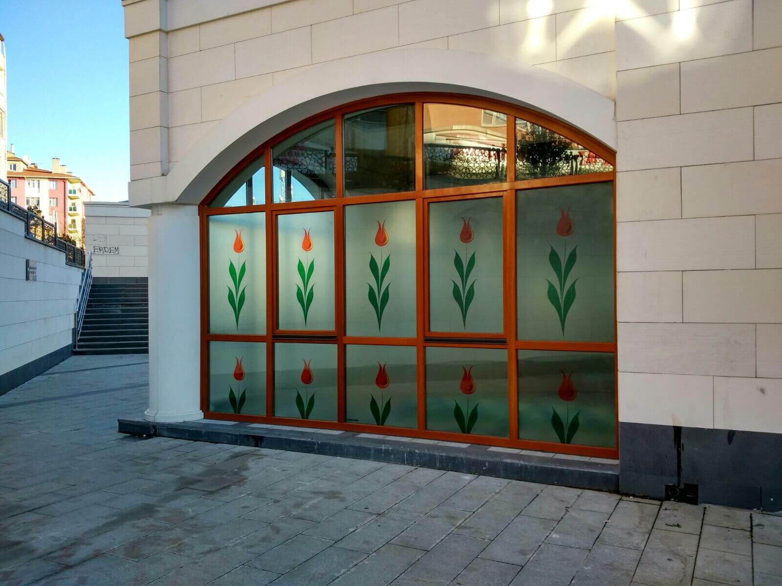 Merkez Camii Şeffaf  Dekor Baskı