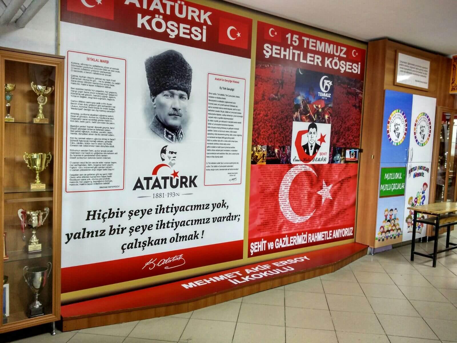 15 Temmuz Köşesi Mehmetakif İlkokulu
