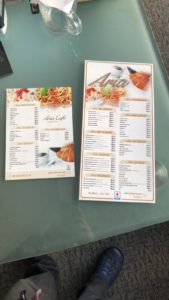 Aria Restoran Broşür ve Menü Tasarımı