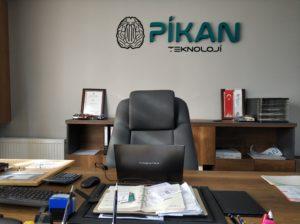 Pikan Teknoloji Ofis Dekorasyon Strafor Harf