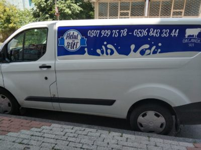 araç reklam kaplama helal süt