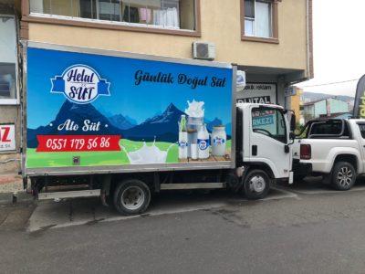Kamyonet Reklam Helal Süt