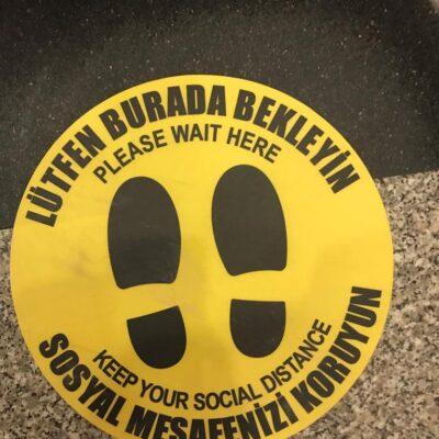 Sosyal Mesafe Sticker