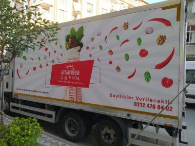 Kamyonet Reklam Giydirme Arsamiea