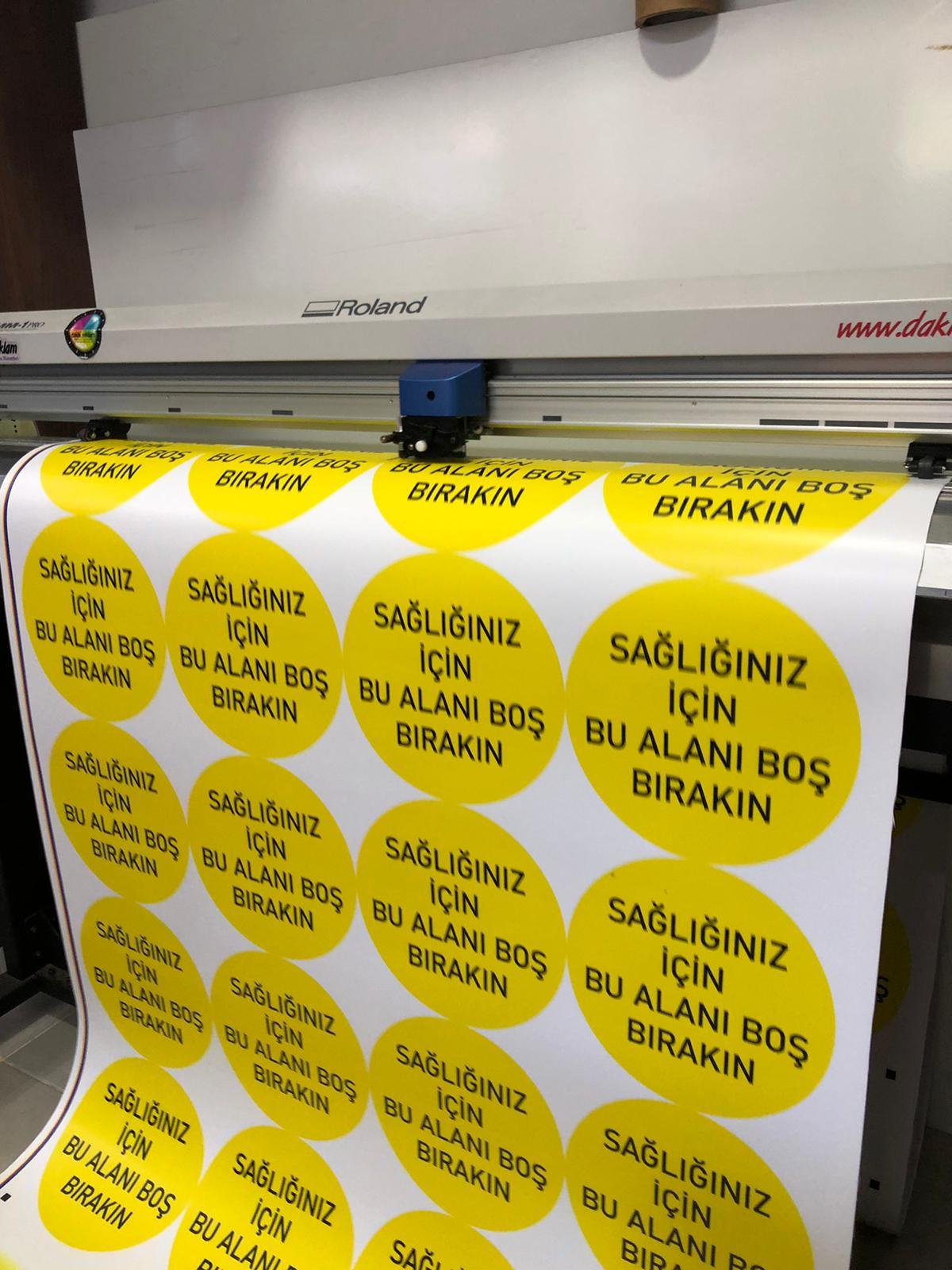 Sosyal Uyarı Etiket Sticker