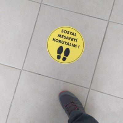 Covid 19 uyarı etiket