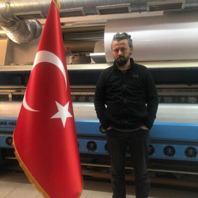 Makam set türk bayrak iç mekan